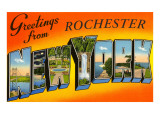 Greetings from Rochester  New York