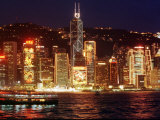 The Buildings are Lit up for the Handover Celebrations  Hong Kong 26  June 1997