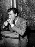 Stewart Granger at Press Reception Held For His New Film the Prisoner of Zenda December 1952