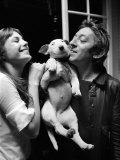 Jane Birkin and Serge Gainsbourg May 1972 at Their Paris Luxury Home