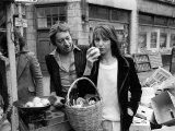 Jane Birkin and Serge Gainsbourg in London Shopping in Berwick Street Market