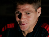 Steven Gerrard at the England Press Conference at Old Trafford  Manchester August 2006