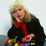 Debbie Harry December 1979 with Toy Letters Spelling Out Blondie