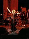 Debbie Harry Singer and Leader of Pop Group Blondie Performing on Stage