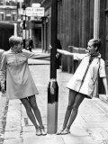 Model Twiggy Seen Here Modelling Mini Dress July 1967