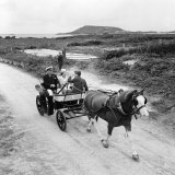 Queen Elizabeth and Prince Charles Touring the Scilly Isles 1967 in a Horse Drawn Cart