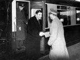 The New American Ambassador John Winant Shakes Hands with King George VI
