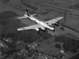 "World War II B-17 ""Flying Fortress""  ""Sally B"" in Flight After Blow Out  July 1983"