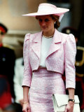 Princess Diana Receives the Freedom of Northampton Wears Pink Suit June 1989
