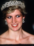 Princess Diana Visits Portugal at a Banquet Hosted by the President at Ajuda Palace