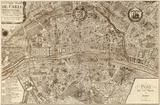 Plan de la Ville de Paris, 1715 Reproduction d'art par Nicolas De Fer