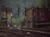 Railroad Junction Through the Old Town of Thurmond  West Virginia