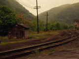 Railroad Through the Old Town of Thurmond  West Virginia