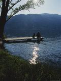 Man and His Dog on a Lake Skaha Dock