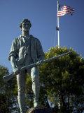 Minuteman Statue at Battle Green in Lexington  Massachusetts