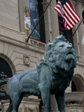 The Bronze Lion in Front of the Chicago Art Institute