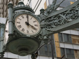 The Marshall Field Clock on the Corner of State and Randolf Streets