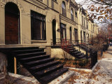 Iron Steps and Entrances in Row Houses in 'Old Town ' Chicago