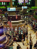 Wall Street  New York the Trading Floor of the New York Stock Exchange in New York City