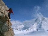 Mountain Climber Summits Mount Bearskin