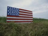 Patriotic Farmer's Roadside American Flag Painted on Plywood