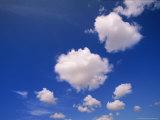 Cumulus Clouds in Blue Summer Sky