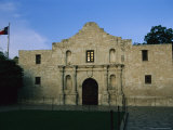 Glow of Sunset Reflects in Window of Texas' Beloved Historic Alamo