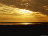 Sunset over a Tidal Marsh with Cordgrass