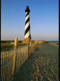Cape Hatteras Lighthouse with Surrounding Sand Fence