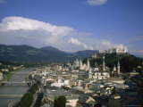 Summertime View of Salzburg  Austria