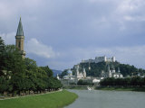 Summertime View of Salzburg and the Salzach River