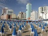 Furled Beach Umbrellas at Playa Popular  Early Morning