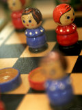 Detail of Wooden Doll Chess Set