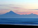 Mount Taranaki at Twilght from Moaku Beach  Mokau