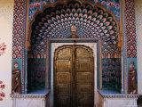 Lotus Gate in Pitam Niwas Chowk in City Palace