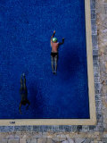 Overhead of Swimmers in Pool of Himawari Apartments