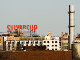 Silvercup Studios Sign  Chimney Stack and Buildings in Queens