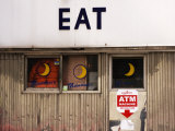 Eat' Sign on Exterior of Moondance Diner  6th Avenue at Broome Street  Soho