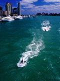 Jet Skis on Biscayne Bay Near Miami Beach Marina