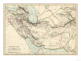 Map of the Ancient Persian Empire Giclée