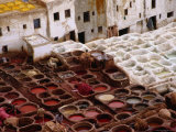 Fes Leather Tannery with its Colourful Wells and Pungent Odor