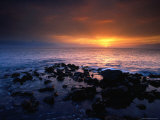 Sunset over the Pacific Ocean from Near Mala Wharf  Lahaina  Maui