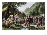 George Washington Leading His Soldiers in Prayer in Camp During the French and Indian War