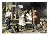 Johannes Gutenberg Examining a Proof