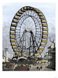 Ferris Wheel -250 Feet in Diameter  36 Cars - at the Columbian Exposition  Chicago  1893