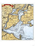 Popple's Map of New York City and the Surrounding Area  1733