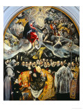 The Burial of the Count of Orgaz Giclée par El Greco