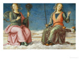 Lunette with Prudence and Justice