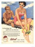 Sun Creams Lotions Tan Tanning Sunburn Astral Suntans Sunbathing  UK  1950