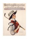 Sunday Magazine  Golf Womens Hats Portraits Magazine  USA  1910